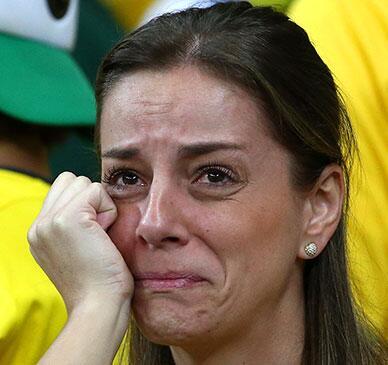 World Cup: Sad Brazilians