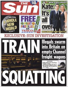 The Sun: Migrants are to be feared!