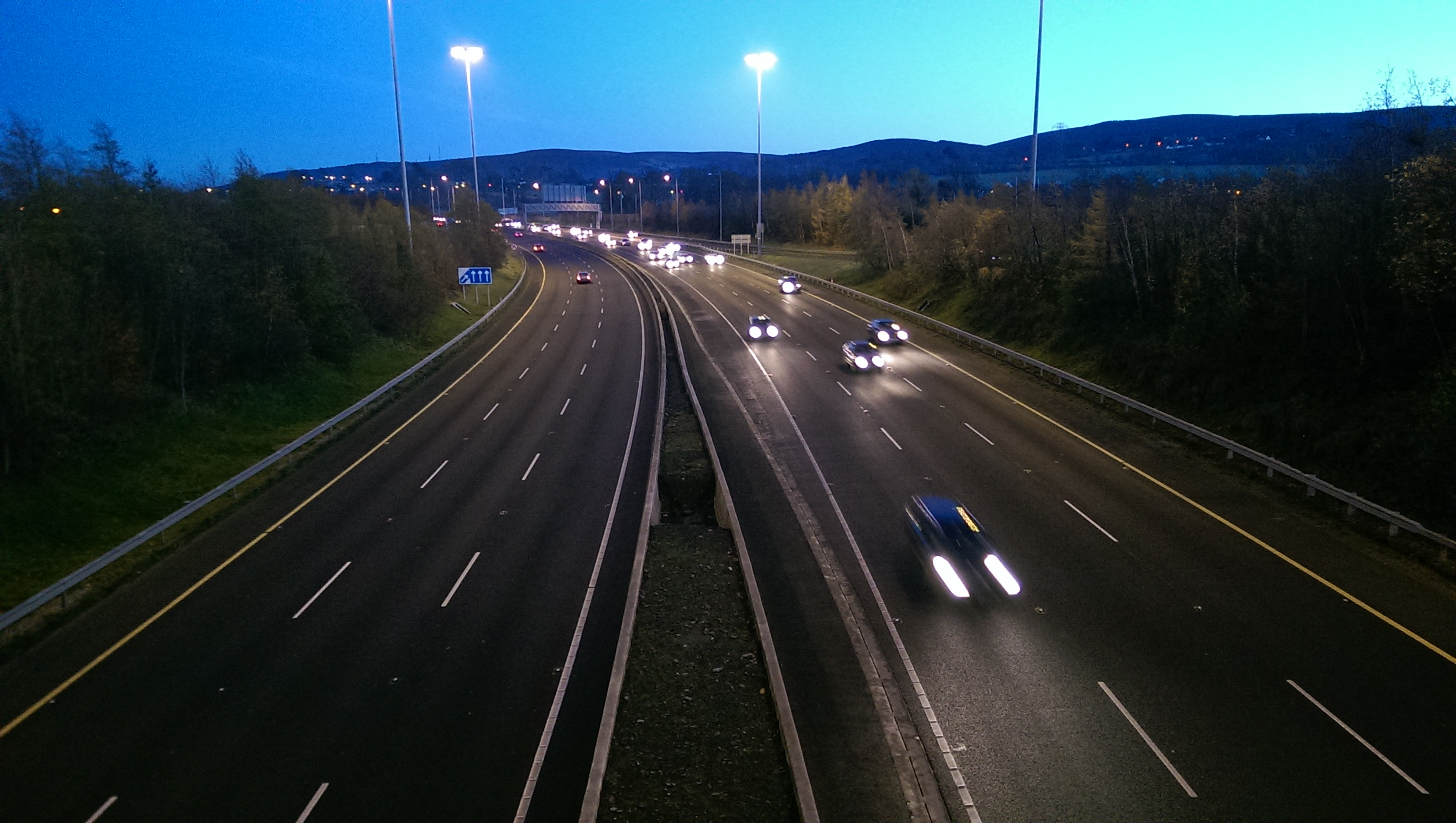 M50 on a winters eve